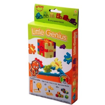 Piankowe puzzle LITTLE GENIUS 6 szt