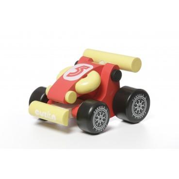 Drawiana wyścigówka czerwona